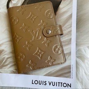 Louis Vuitton Gold Matte Monogram Small Agenda PM